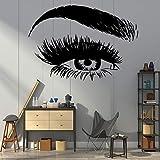 Beauty Eye Makeup Vinilo Adhesivo de Pared decoración de Pared salón de Belleza vestidor...