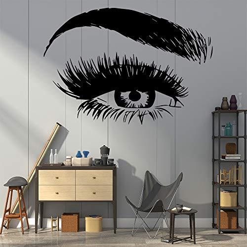 Salón de belleza sala de polvo de vinilo pegatinas de pared decoración de la pared decoración del arte del hogar pegatinas de pared A1 L 43x61cm