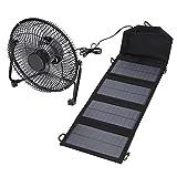 7W 5.5V ソーラー扇風機 卓上扇風機 太陽エネルギ&USB充電 家庭換気扇 ソーラーパネル付き 屋外充電器 熱中症・暑さ対策 屋外・屋内兼用 旅行 キャンプ