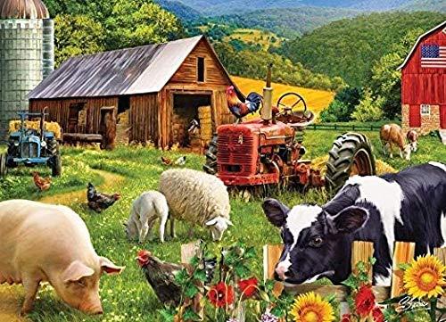 FPRW Legpuzzels 1000-delig, doe-het-zelf creatieve houten puzzel, voor kinderen Volwassen educatief spel Stress Reliever Gift - Farm Friends