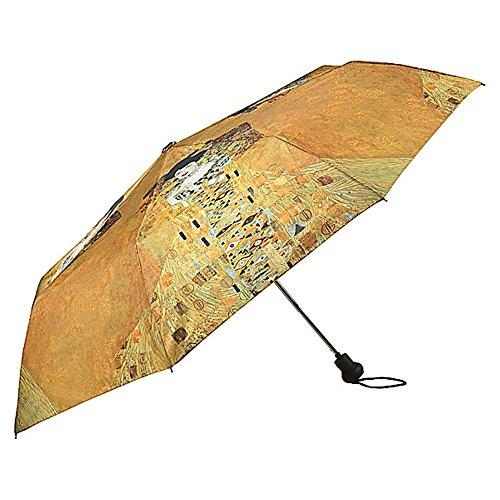 VON LILIENFELD Regenschirm Taschenschirm Stabil Leicht Auf-Automatik Gold Damen Kunst Motiv Gustav Klimt: Adele