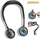 2600MAH Ventilateur personnel portable, mini ventilateur de cou USB mains libres Ventilateur de...
