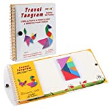 Coogam Magnetic Travel Tangram Puzzles Book Game Tangrams Jigsaw Shapes Dissection with Solution