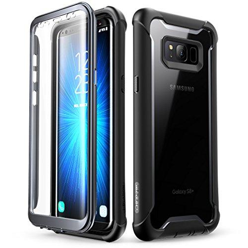 i-Blason Samsung Galaxy S8 Plus Hülle [Ares] 360 Grad Handyhülle Case Robust Schutzhülle Cover mit eingebautem Bildschirmschutz für Galaxy S8 + Plus, Schwarz