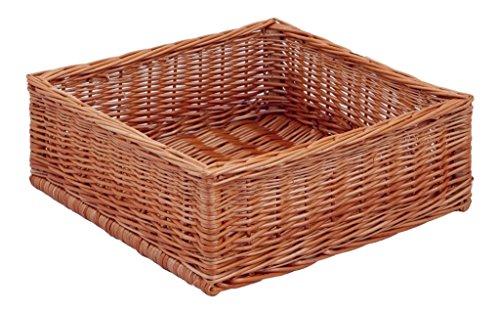 Backideen Regalkorb Klassisch quadratisch, braun, T 40cm x B 40cm x H 15cm