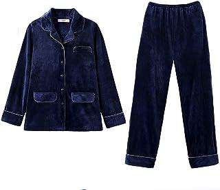 ZZHF shuiyi パジャマ、厚手の快適な肌に優しいカジュアルウェア2点の恋人ルーズパジャマ男性、女性の家庭用品Splice Pajamas、ロイヤルブルー 寝間着 (色 : Royal blue-male, サイズ さいず : XXL)