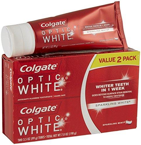 Colgate Optic White Toothpaste Sparkling Mint - 2 CT