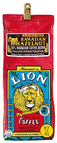 ライオンコーヒー ライオンヘーゼルナッツ 198g(粉)×15個(1ケース) [正規輸入品]