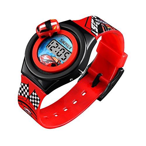 Redlemon Reloj para Niño, Digital, Diseño Infantil, Piloto de Carreras, Hora y Fecha, Auto Giratorio,…