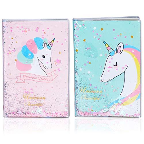 Unicornio Cuaderno ZSWQ-Set de Papelería Unicornio Diario de Viaje A5 Bloc de Notas para Niños y niñas Regalo de Cumpleaños