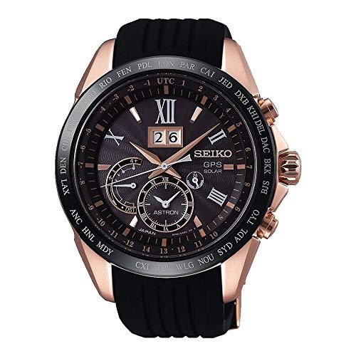Seiko astron Herren Uhr analog Automatik mit Silikon Armband SSE153J1