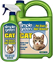 Simple Green Cat Stain & Odor Remover - Enzyme Cleaner for Cat Urine, Feces, Blood, Vomit (32 oz Sprayer & 1 gallon Refill)