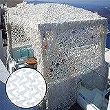 AIYIJIA Camuflaje Blanco Sombra de la Tela Neta Neta de Oxford for el sombreado, Caza, Camping, fotografía, Foto Set de filmación (tamaño: 3 x 4 m) (Size : 3x5m)