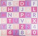 Tadpoles Soft EVA Foam 36 Piece ABC Playmat Set, Pink/Purple, 74x 74