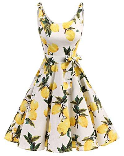 Bbonlinedress Vestidos de 1950 Estampado Vintage Retro Cóct