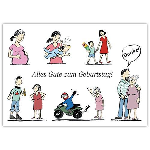 Anja Vogel in 5-delige set: geïllustreerde verjaardagskaart van de zoon: Alles goed voor Moederdag