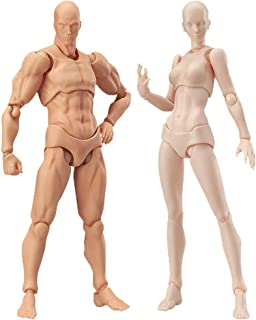Drawing Figures for Artists Action Figure Model Human Mannequin Man and Woman Set,with Accessories Kit for Sketching, Painting, Drawing, Artist (2 Pcs/Set Action Figure Model with Accessories Kit)