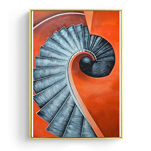 Geen lijst abstracte decoratie winding trap canvas wand kunst poster en afdrukken voor woonkamer gang Studio HD modern interieur