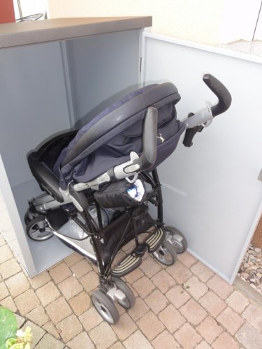 Metalltechnik Dermbach GmbH Kinderwagenbox Kinderwagengarage Kinderwagenunterstand