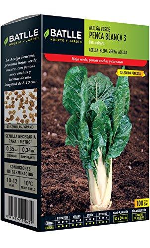 Semillas Hortícolas - Acelga verde de penca blanca 3 sel. Pencosa 100g - Batlle