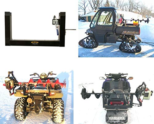 Digger Ice Auger Mount for ATV, Snowmobile, UTV, Fits Metal Rack, Bumper & Polaris Composite Rack