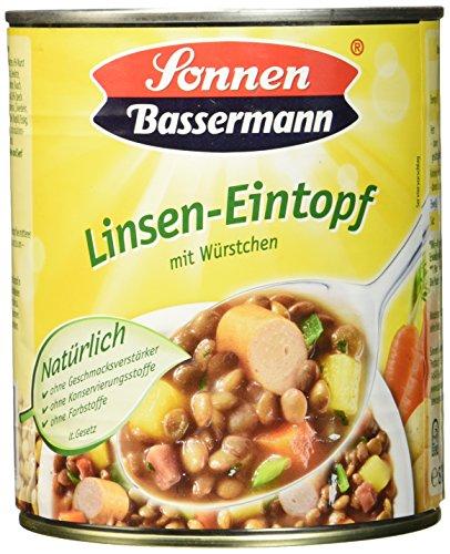 Sonnen Bassermann Linsen-Topf, 6er Pack (6 x 800 g Dose)