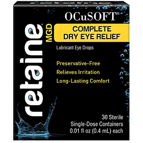 OCuSOFT Retaine MGD Ophthalmic Emulsion Sterile Single-Dose Containers 30 ea (Pack of 4)
