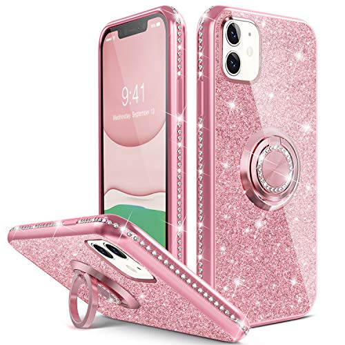 HAVVA Compatible for iPhone 11 Bling Stand Case 6.1 inch
