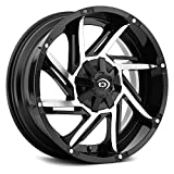 Vision 422 Prowler 20x12 5x5.5' -51mm Black/Machined Wheel Rim 20' Inch