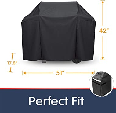 Grisun Grill Cover for Weber Spirit II 300 and Spirit 200 Series Gas Grill, 7139 BBQ Cover 7536 Flavorizer Bars for Weber Spi
