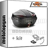 kappa maleta k47nn manta 47 lt + portaequipaje monolock compatible con kymco ak 550 ak550 2020 20