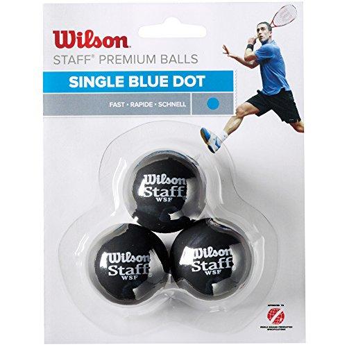 Wilson Staff Pelota de Squash, 3 Unidades, Unisex, Azul Negro, 3 Piezas