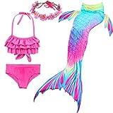 Girl's Mermaid Tail Swimsuit for Swimming Bikini Set Sea-Maid Princess...