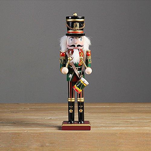 30 cm Nußknacker Nussknacker Handpuppe Figur aus Holz Weihnachten Dekor Soldaten Spielzeug -Drummer