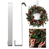 Door Wreath Hanger Hook - Strong Metal Over the Door Hook 28cm for Every Day Use and for Christmas | Perfect for Hanging Clothes, Bags, Scarves and Christmas Wreath