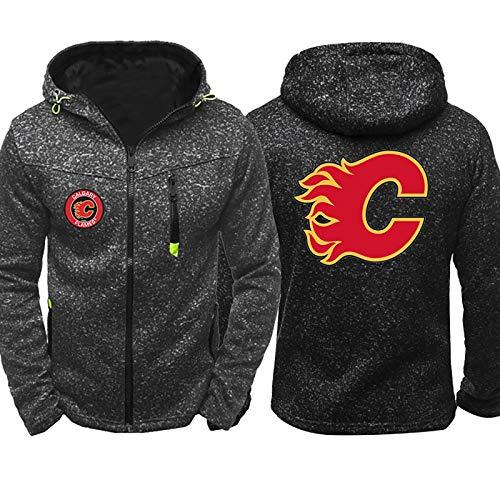 ZGRNB Herren Hockey Trikot Hoodie Winter Sweatshirt Baumwolle Jacken NHL Canadiens de Montréal Carolina Hurricanes Toronto Maple Leafs Calgary Flames Atlanta Thrashers Reiß Verschluss Coats Outwear