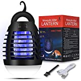 AMBOTHER Electric Mosquito Killer Mosquito Lamp Built in High Voltage USB Powered Trap Gnats Waterproof Indoor Outdoor Patio