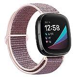 Runostrich Correas de nailon compatibles con Fitbit Versa 3/Fitbit Sense, correa de repuesto ajustable suave y transpirable para...