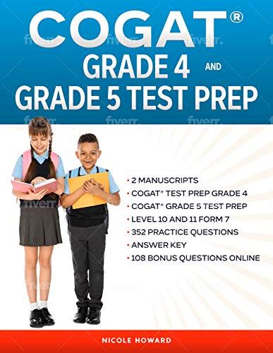 COGAT® GRADE 4 AND 5 TEST PREP: 2 MANUSCRIPTS, COGAT® TEST...