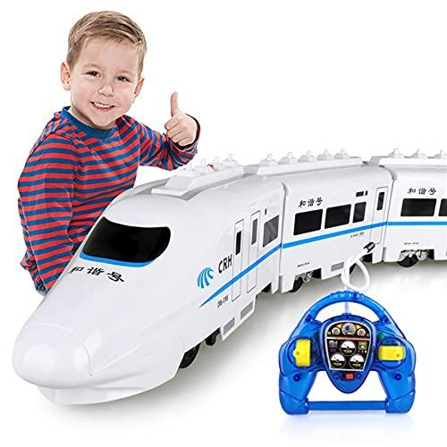 BHJH7 Tren de control remoto de alta velocidad Ferrocarril de coches de...