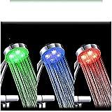 Cabezal De Ducha Grifo De Agua Led Accesorios De Cabezal De Ducha De Colores Glow Tap Boquilla Para Baño Cocina Control De Temperatura Luz 3 Colores Sensorrgbhshower1Pcs
