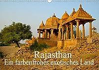 Rajasthan - Ein farbenfrohes exotisches Land (Wandkalender 2022 DIN A3 quer): Ein Land voller Palaeste, Tempel und Farben (Monatskalender, 14 Seiten )