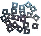 Nordec DIN436 - Discos cuadrados (20 unidades, acero...