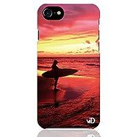 ブレインズ iPhone SE 第2世代 2020 iPhone8 iPhone7 ハード ケース カバー サーフガール TYPE 03 美しい 美人 海 写真 フォト 人気 サーフィン サーフ 波乗り サマー 夏 西海岸 ハワイ