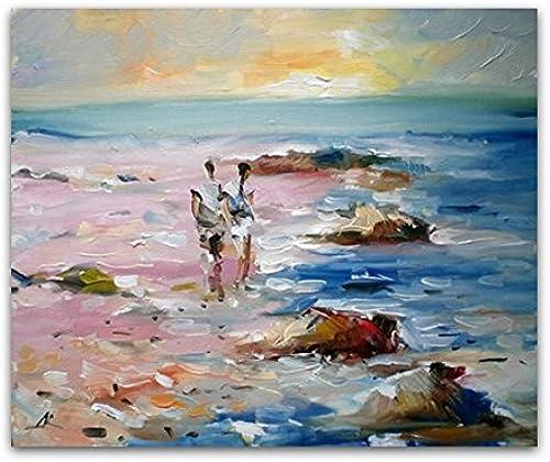 QIAISHI Pintura al óleo Pintada a Mano decoración casera Pintura Pintura de Paisaje Cuadros