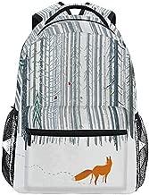 ALAZA Winter Forest Landscape Fox Backpack Daypack College School Travel Shoulder Bag