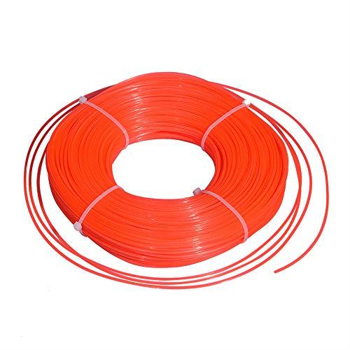 UPPOD trimmer line, lawn trimmer line, 2.4 mm x 120 m, star nylon line, strimmer line, 5-sided diameter 2.4 mm x 120 m, red (2.4mm)