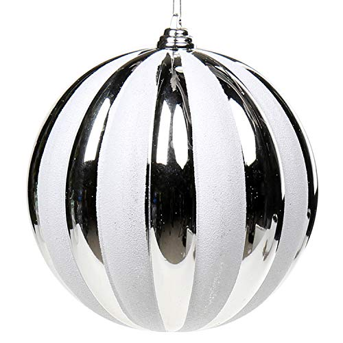 Christmas Balls Ornaments Various Sizes Large Ball Decoration for Holiday Wedding Party Christmas Tree Ornaments Hanging Ball Size 6.12 inches ~ 8.16 inches (180mm/7.35', #3)