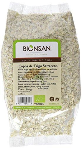 Bionsan Copos de Trigo Sarraceno Ecológico   6 Bolsas de 500 g   Total: 3000 gr