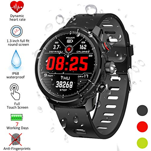 Padgene Smartwatch, Reloj Inteligente IP68 Impermeable Bluetooth SmartWatch con Múltiples Modos de Deportes, Fitness Tracker, Monitor de Dormir, Notificación de...